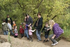 De día de campo con los niños