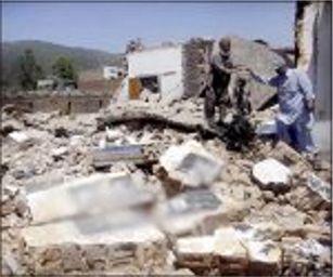 Casas cristianas destruídas por muslmanes